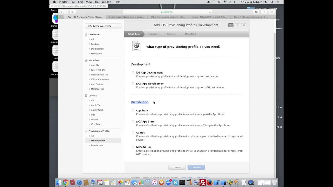 How to Create Provisioning Profile in IOS