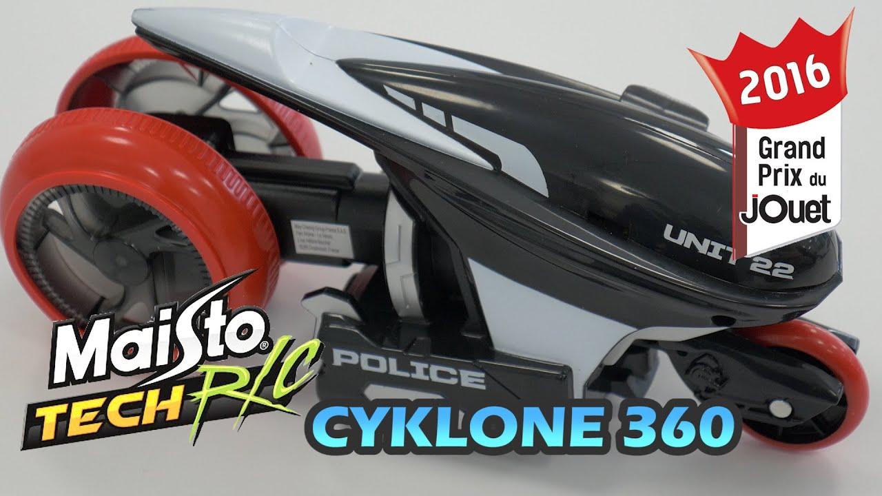cyklone 360 de maisto tech r c d mo de la moto radiocommand e 3 roues youtube. Black Bedroom Furniture Sets. Home Design Ideas