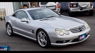 Walk Around/Test Drive - 2002 Mercedes Benz SL55 AMG - Japanese JDM Car Auctions
