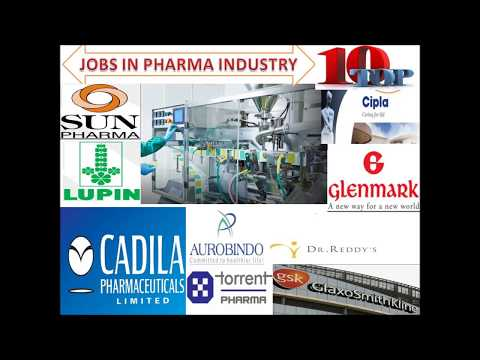 Top Ten/10  pharma companies in India/ Industrial Job in pharmacy