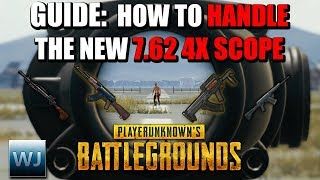 GUIDE: How to HANDLE the NEW 7.62 4X Scope (Aim points + Range Finder) - PUBG
