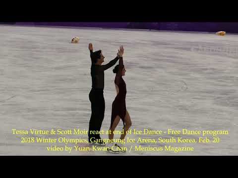 Tessa Virtue & Scott Moir react to Free Dance program - 2018 Winter Olympics - Meniscus Magazine