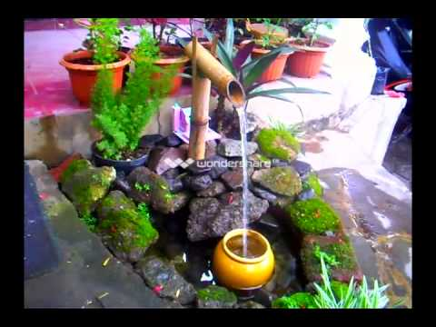 Air Mancur Bambu plus filter gentong aka Bamboo Fountain plus pot filter