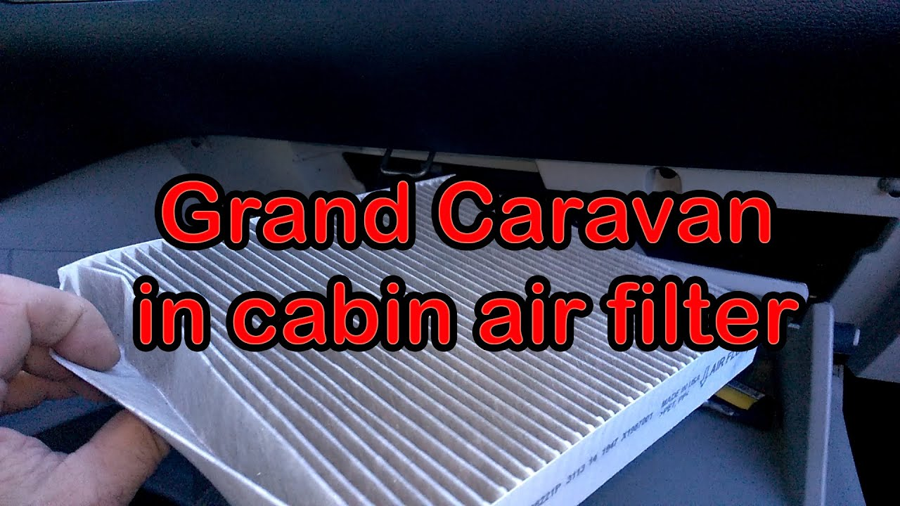 Grand caravan in cab air filter replacement youtube for 2006 dodge grand caravan cabin filter location