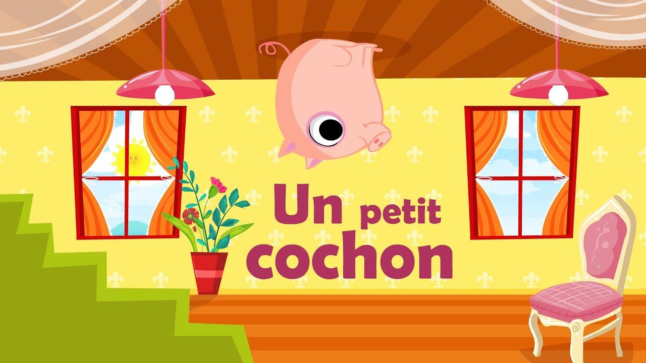 un petit cochon pendu au plafond comptine 224 gestes avec paroles