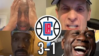 Best Reactions to Clippers blowing a 3-1 lead to the DENVER NUGGETS!! (MUST WATCH!!)