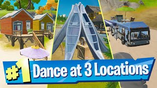 Dance at Rainbow Rentals, Beach Bus and Lake Canoe Location - Fortnite Battle Royale