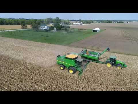 Central Illinois Corn Harvest 2017