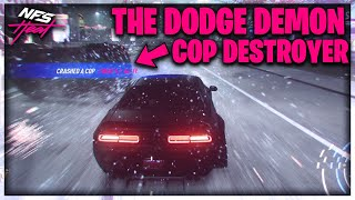 THE ULTIMATE COP DESTROYER 1400HP DODGE DEMON BUILD! | Need For Speed Heat