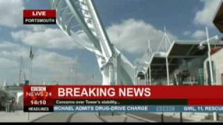Footage of the Spinnaker Tower Collapsing!!!