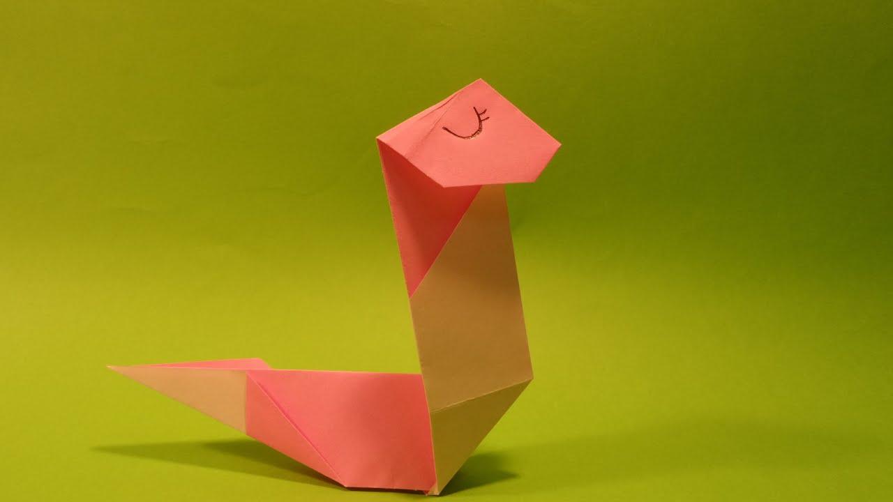 뱀 색종이 접기 - Origami Confetti snake - YouTube - photo#44
