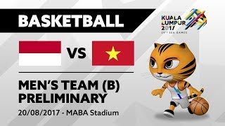 Gambar cover KL2017 29th SEA Games | Men's Basketball - INA 🇮🇩 vs VIE 🇻🇳