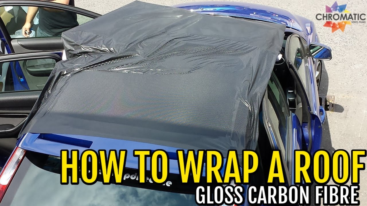 How To Wrap A Roof In Carbon Fibre Using Chromatics CF
