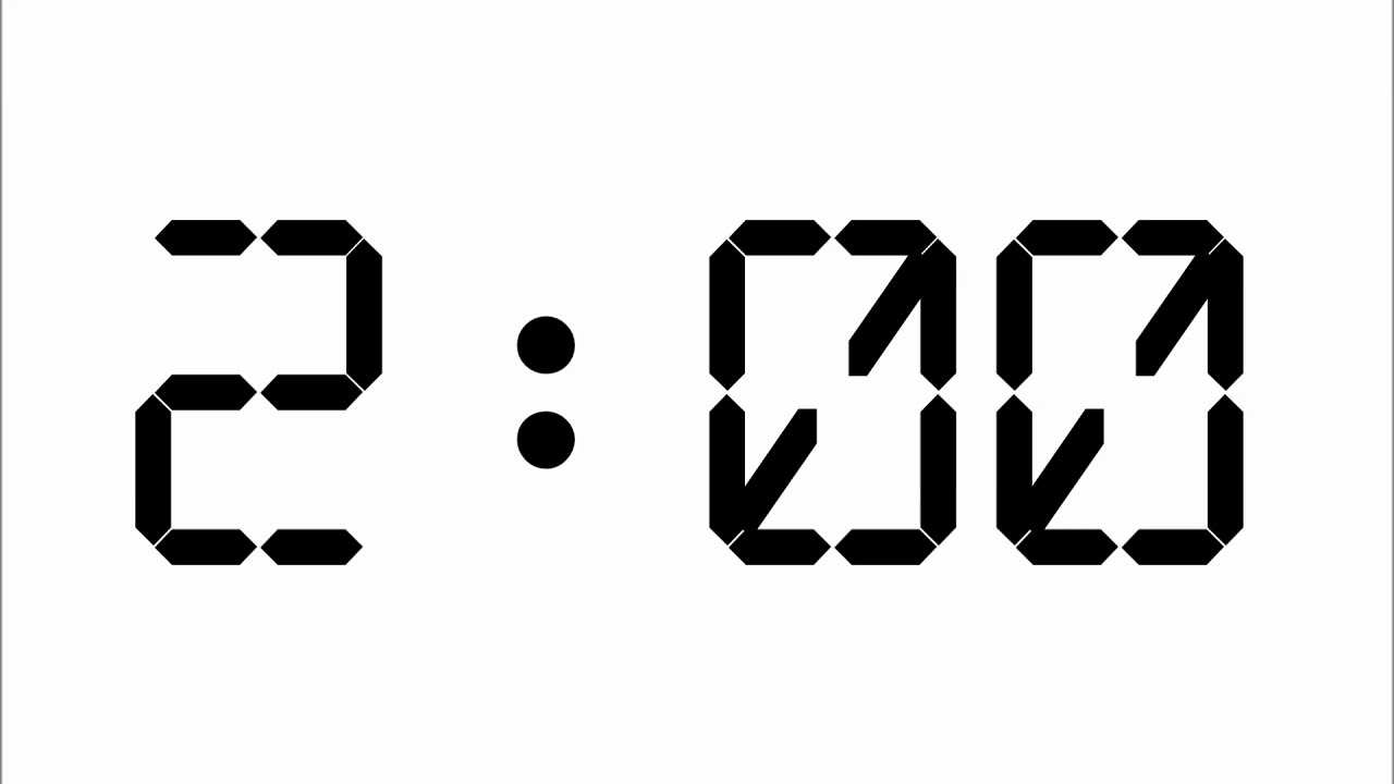 2 minute countdown timer with alarm youtube