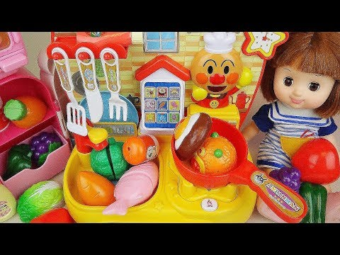 Baby doll and Kitchen cook toys food toys baby doli play