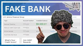 Imagine Spending 2 Hours Stealing From A Fake Bank