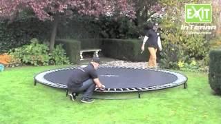 Inground trampoline Exit interra opbouw instructies   Trampolines.nl