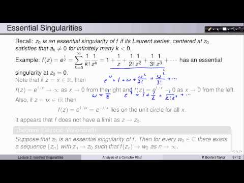 Week7Lecture2: Isolated Singularities of Analytic Functions