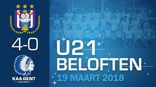 🐺 U21: Anderlecht - KAA Gent: 4-0