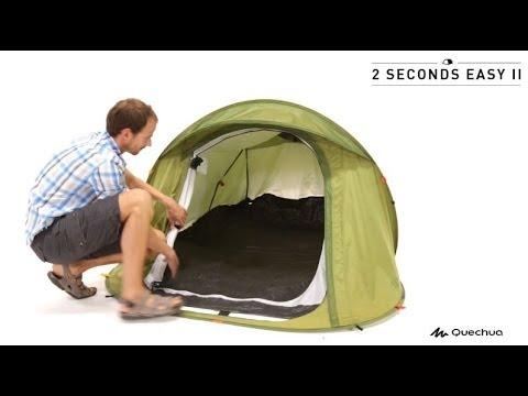 52f58e0e2 Quechua - Tenda 2 Seconds Easy II - YouTube