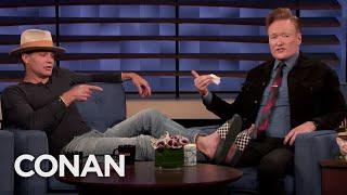Conan Disinfects Timothy Olyphant's Feet - CONAN On TBS