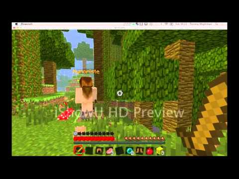 Minecraft hunger games 1 with some naked girl!?!?!?!?!?