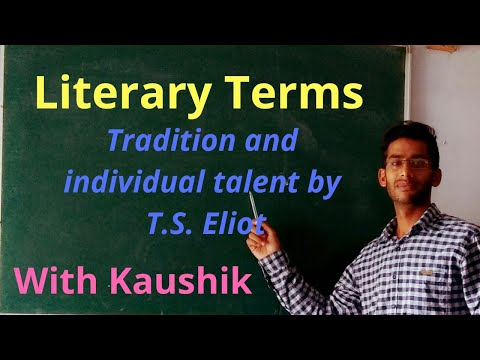 Literary Terms English Literature |Hindi| tradition and individual talent by T. S Eliot |dsssb|tgt