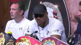 Anthony Joshua vs Alexander Povetkin fight launch London press conference