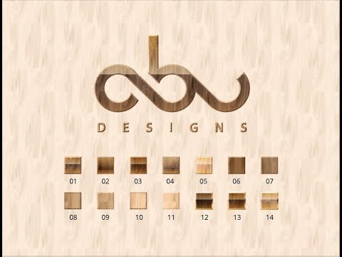 logo design tutorial wood text effect graphic styles ...