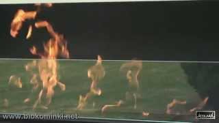 Kominek z rozprowadzeniem ciepła - kominki na biopaliwo - Biokominki KAMI