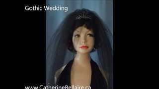 Black Wedding Veil. Gothic Black Bridal Veil. Thumbnail