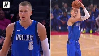 Kristaps Porzingis FROM DEEP! First Points for Dallas Mavericks Debut | October 9, 2019