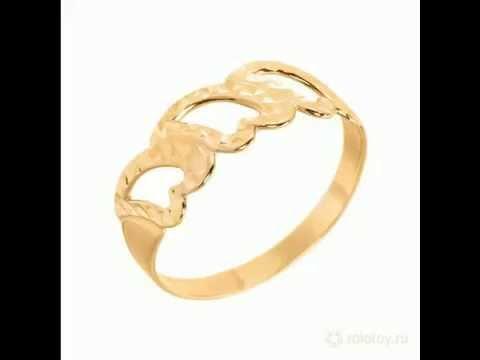 Кольца без вставок золотые  – лучшие цены!