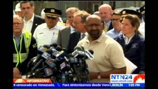 Equipos de búsqueda hallan caja negra del tren accidentado en Filadelfia