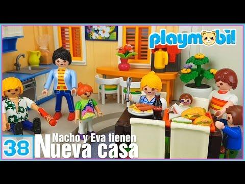 Playmobil 38   La nueva casa de Nacho y Eva. Eva está enferma!!! Playmobil en español