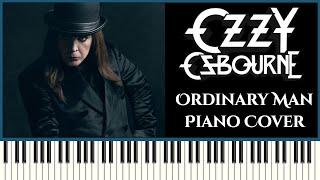Ozzy Osbourne - Ordinary Man ft  Elton John   Piano Cover