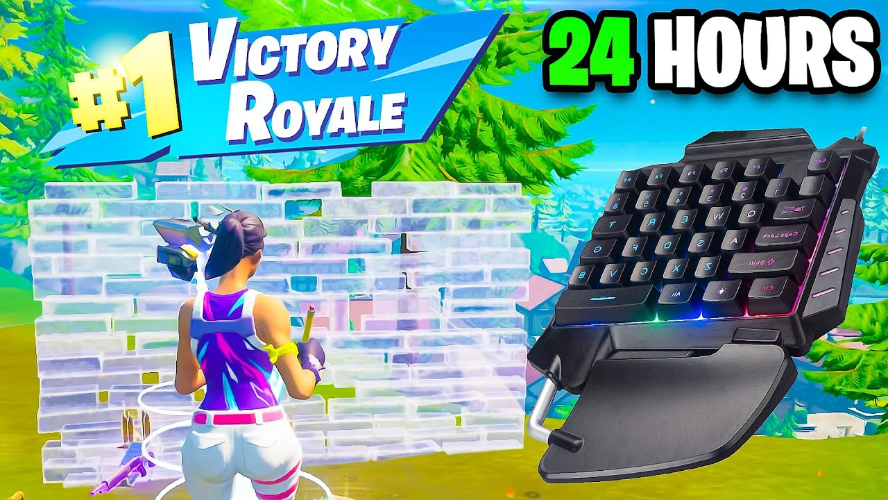 I Used The SMALLEST Keyboard For 24 HOURS... (Handcam)