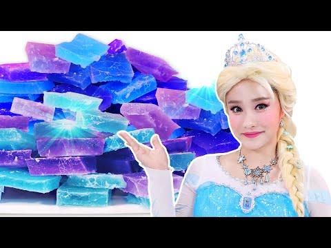Frozen Elsa Kohakuto Mukbang 겨울왕국 엘사 보석 코하쿠토 먹방 JiniYum 지니얌
