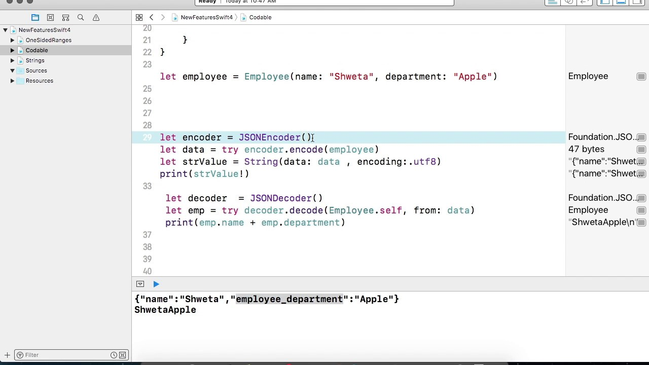 New feature in Swift 4 - JSON Parsing with CodingKey - Part 4