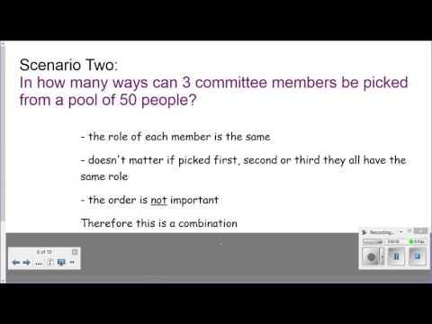 How to distinguish a Permutation vs Combination
