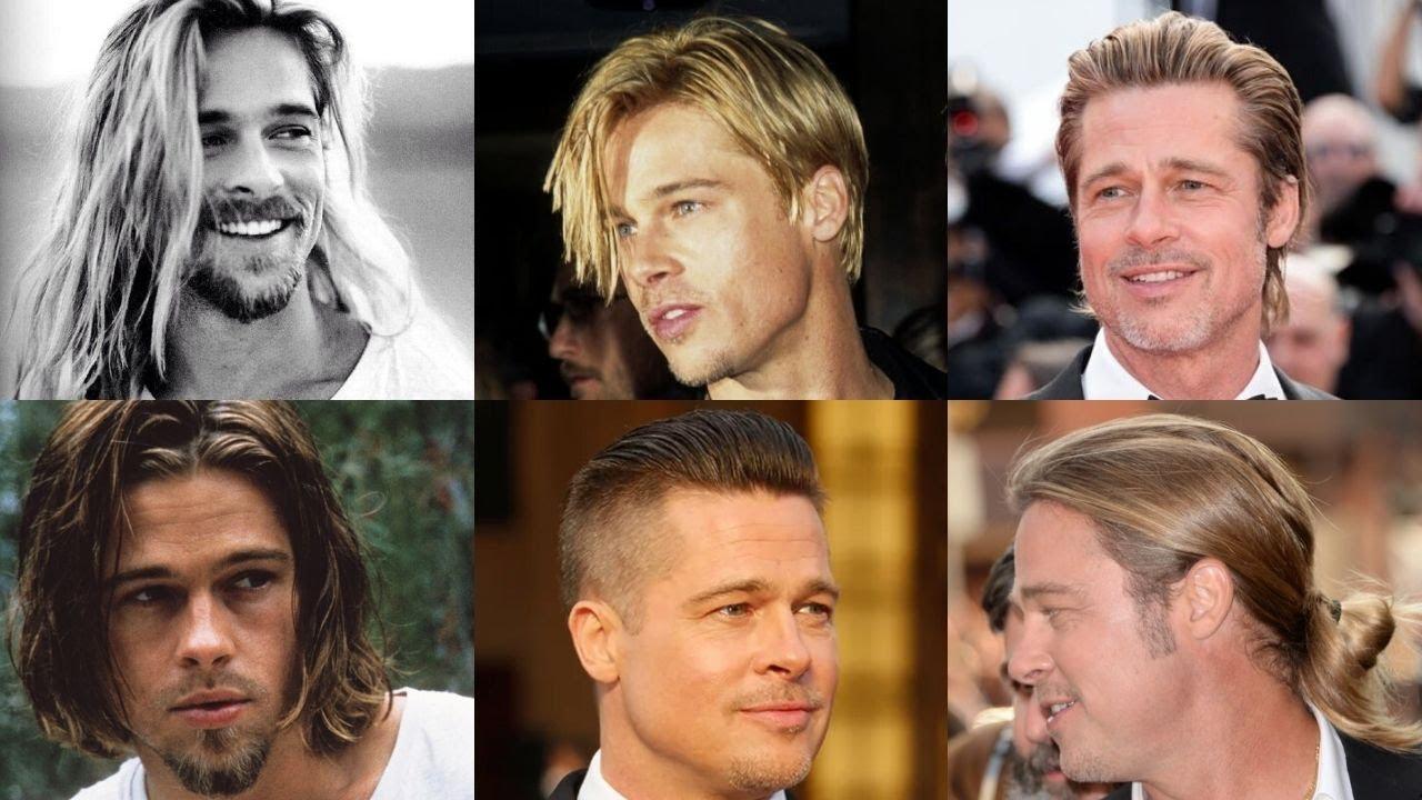 Every Brad Pitt S Hairstyle Men S Hairstyles Inspiration Youtube