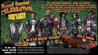 Borderlands: The Pre-Sequel Bloody Harvest SHiFT Codes!