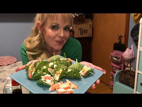 Keto Mukbang....Crab&Avocado Sushi Rolls!