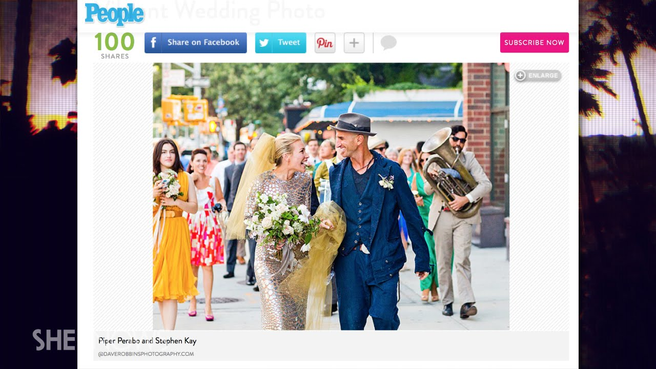 Piper perabo wears unique wedding gown to wed stephen kay the buzz piper perabo wears unique wedding gown to wed stephen kay the buzz junglespirit Choice Image
