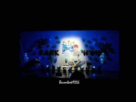 170504 BAEKHYUN Birthday party 큥일파티 Baekhyun singing in the rain + love me right + take you home cut