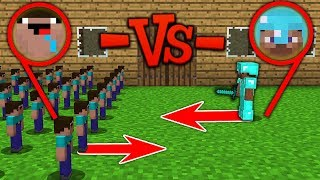 Minecraft Battle: NOOB Army vs Pro army: SUPER BATTLE OF CLAY SOLDIERS Challenge Animation
