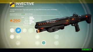 Destiny - A Dubious Task - Exotic Bounty Walkthrough - How to get the exotic Shotgun Invective - 4k