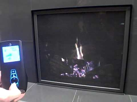 Mendota FullView FV41 gas fireplace remote operation - YouTube