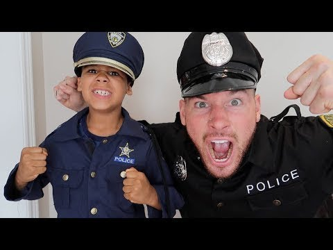 FamousTubeKIDS POLICE KID and POLICE DAD Best Moments!