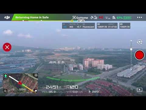 Dji Mavic Air Range Test In Malaysia ( Screen Recording )